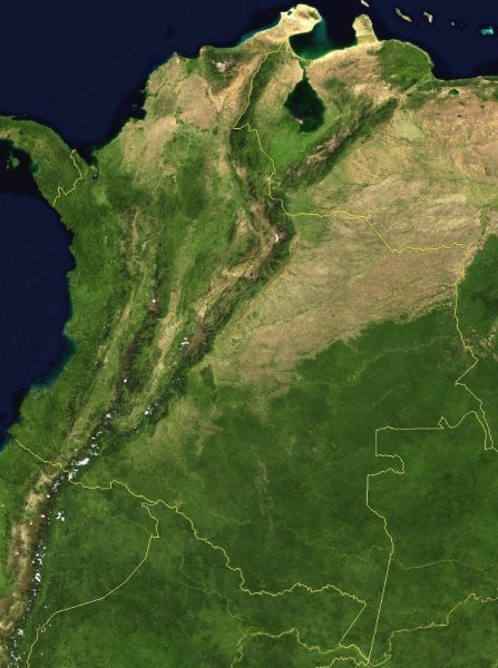 Mapa de Colombia satelital