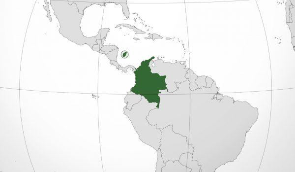 Mapa de ubicación de Colombia