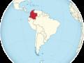 mapa de america ubicando a colombia