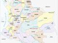 Mapa de Colombia con sus ciudades más importantes