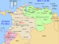 Mapa de Colombia con sus fronteras