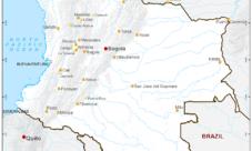 Mapa de puertos de Colombia