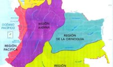 Mapa de regiones naturales de Colombia